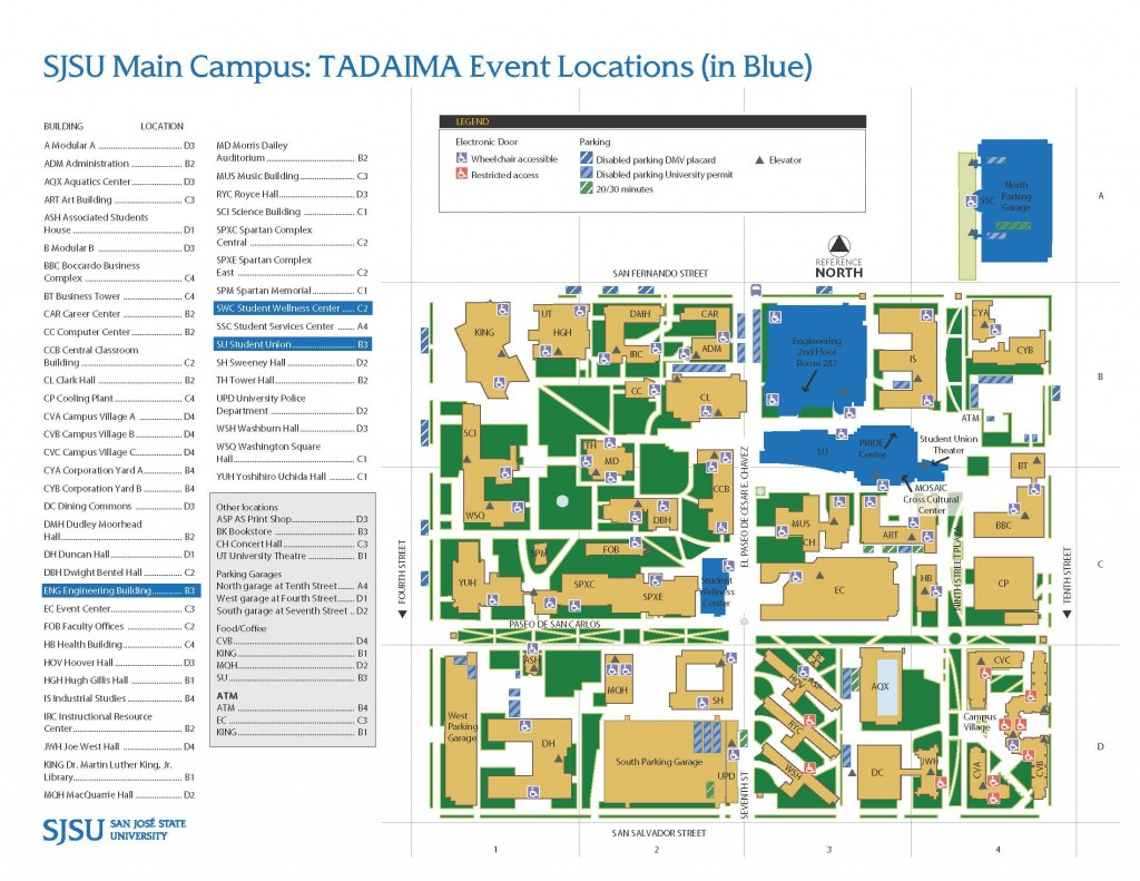 Map of the SJSU campus
